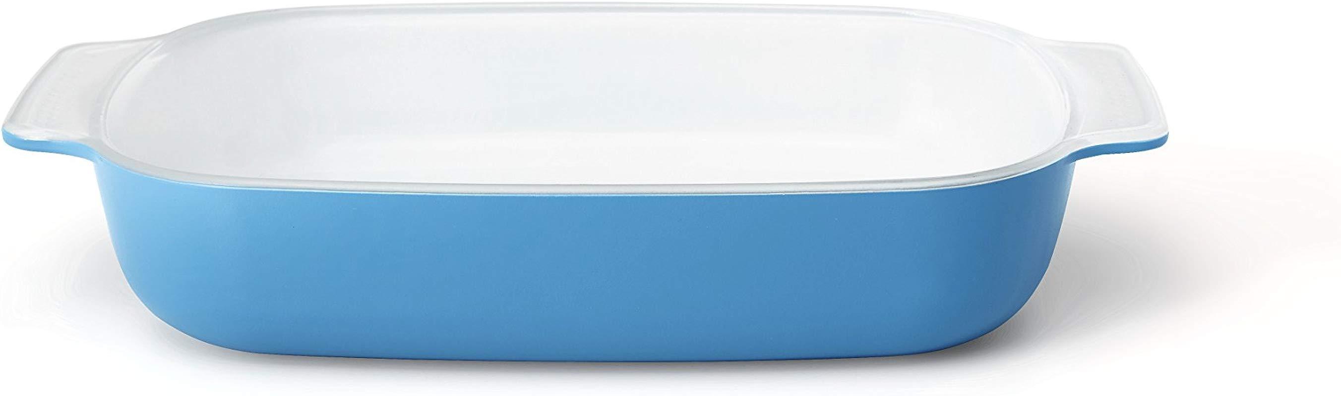 Creo SmartGlass Cookware 1 Quart Baking Dish Mediterranean Blue