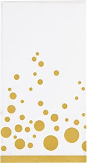 Creative Converting 317845 16 Count Paper Guest Napkins, Sparkle and Shine Gold