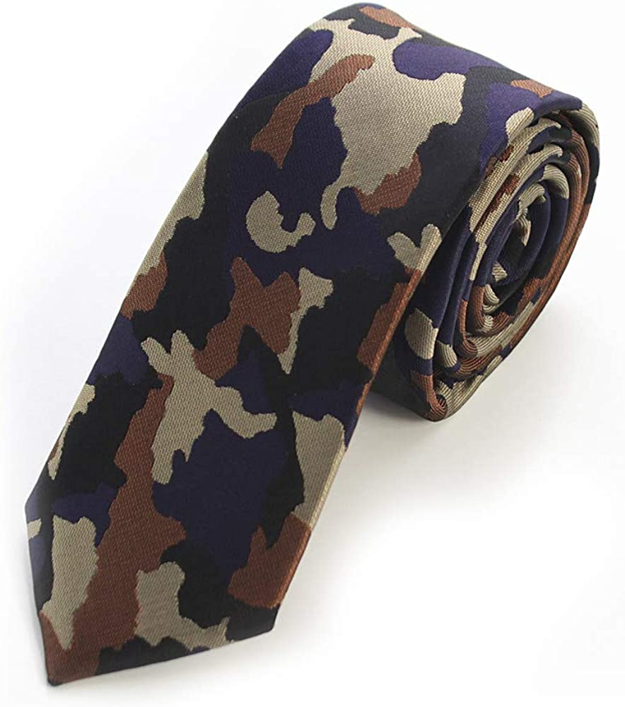 Ranking TOP13 Year-end gift Men's Polyester Skinny Necktie Camouflage Pattern - Width 2 1 2