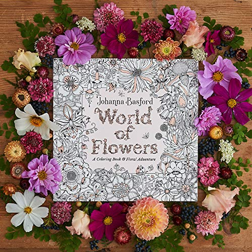 616m9D00OWL. SL500  - World of Flowers: A Coloring Book and Floral Adventure