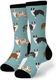 Australian Shepherd Dog Breed Pattern #2 Men-Women Adult Ankle Socks