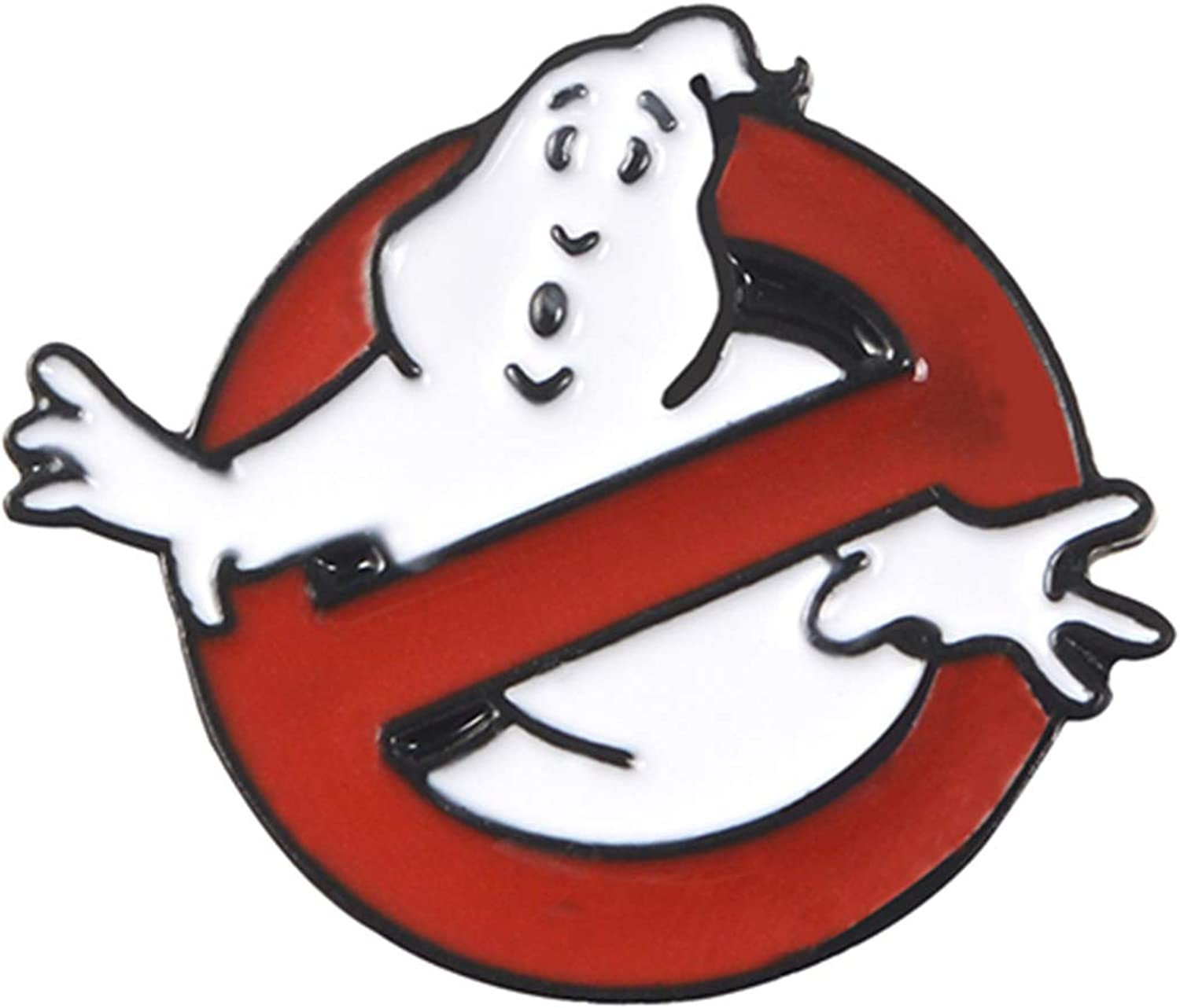Anffy Ghostbusters Enamel Pin White Cloth Brooch Bag Badge Albuquerque Max 87% OFF Mall Ghost