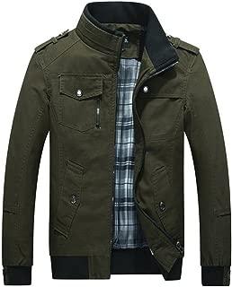 Olrek Men's Autumn Fall Stand Colllar Outerwear Jacket Coat