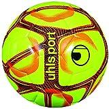 uhlsport TRIOMPHÈO Club Training-Ballons-Taille 5 Adulte Unisexe, Jaune Fluo/Orange Fluo/Noir, 5