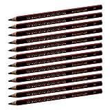 Staedtler 1285 Dicker Schreiblern Bleistift Ø 4mm, Härtegrad 2B, 12 Stück