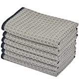 KinHwa Dish Cloths Ultra Absorbent Microfiber Cleaning Cloths Odor Free Waffle Weave Kitchen