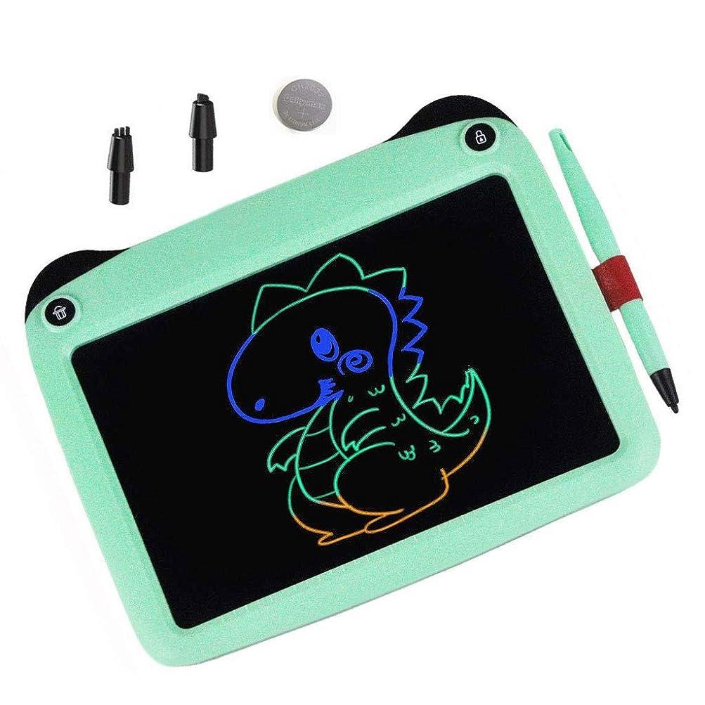 逮捕公爵夫人粘土カラフルなLCDライティングタブレットキッズ子供用液晶画面描画ボードスケッチブックのためのドローイングタブレットパッドボード9インチ消去可能なデジタルグラフィックスタブレット (Color : Green)