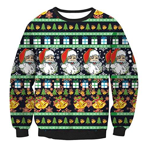 Un pull avec plein de Pères Noël