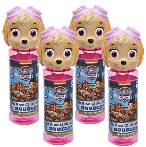 Little Kids Paw Patrol Skye 8 oz Bubble Head with Wand Set (4 Piece)