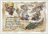 Die Staffelei Geschenk Karte Weltenbummler Globetrotter Weltreisender Zeichnung mit Gedicht, 20 x 15 cm