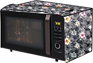 The Furnishing Tree Microwave Oven Cover for IFB 25 L Convection 25BC4 Floral Pattern Grey