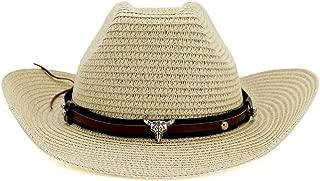 Sun Hat for men and women Fashion Hat Outdoor Beach Hat Sun Visor Western Cow Head Metal Decoration Gentleman Hat Cowboy Hat Female