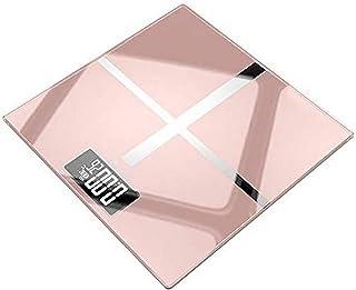 ZCY Báscula electrónica portátil para el hogar Báscula de Grasa Corporal de baño Carga USB LCD Digital Medida de Peso de inducción automática 180 kg - Dorado