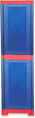 National Planet Power Medium Plastic Storage Cabinet,Red&Blue