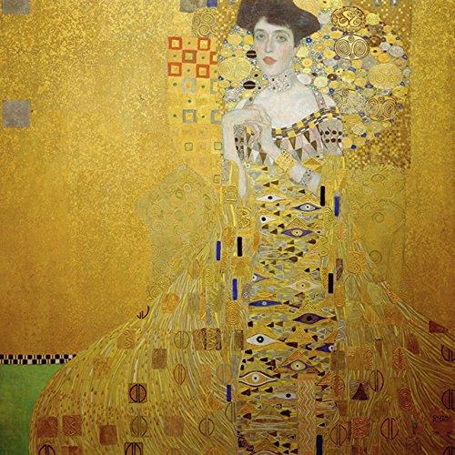 Artland Alte Meister Bild Gustav Klimt Wandbild Glas 100 x 50 cm Bloch-Bauer Glasbild Art Nouveau & Jugendstil Kunstdruck Gemälde K6BA