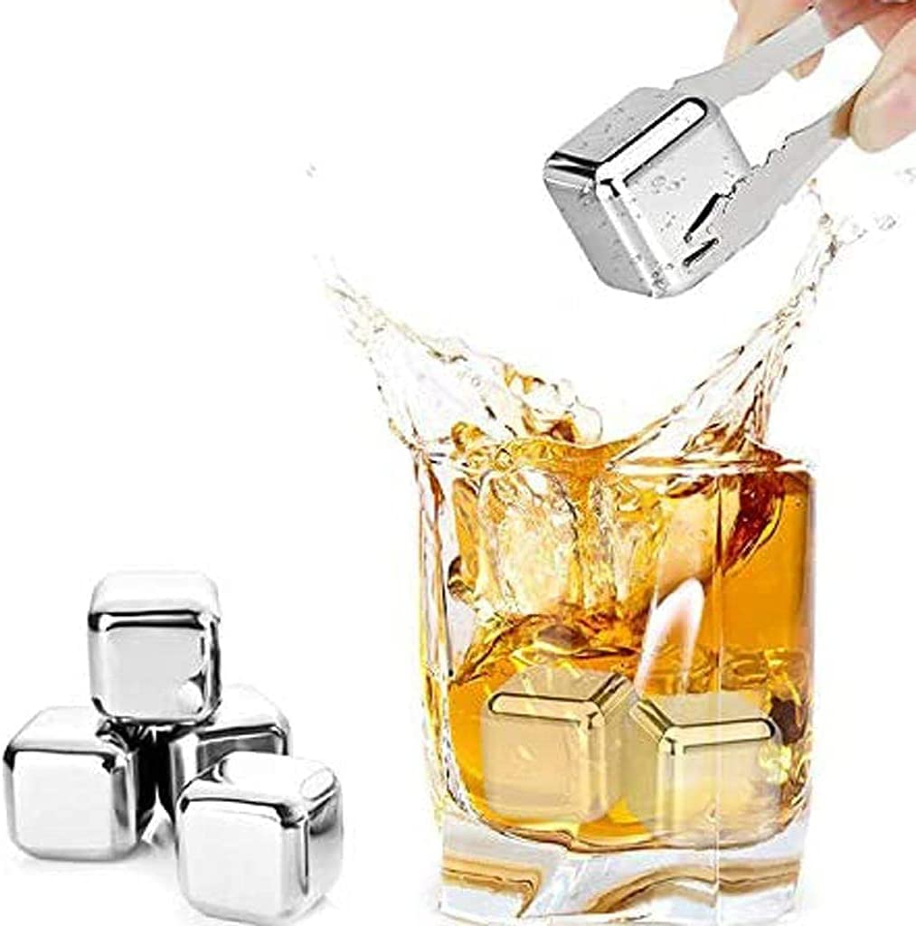 6Pcs Sale SALE% OFF Reusable Ice Max 55% OFF Cubes Whisky Stainless St Stones Steel