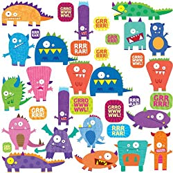 roommated mosters peel and stick wall decals