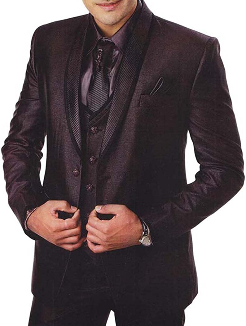 INMONARCH Mens Brown 7 Pc Tuxedo Suit Beach Wedding TX0915