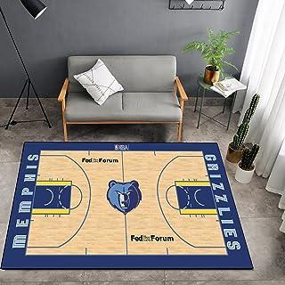 Tritow USA NBA Basketball Tapis NBA Grizzlies Salon Tapis antidérapant Facile à Nettoyer Tapis de Zone d'impression 3D Tap...