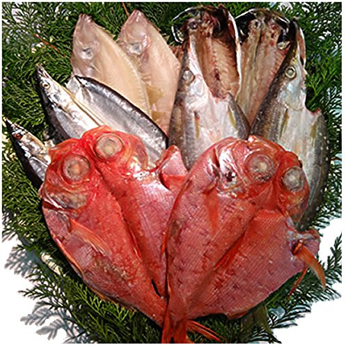 【京魚・三央】ひもの詰合せ(金目鯛・水かれい・さんま・あじ・かます各2枚)