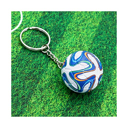 Goplnma Entre el Llavero de los EE.UU. Fútbol Deportivo 3D Llavero Clave Souvenirs PU Llavero De Cuero para Hombres Fanáticos Fútbol Llavero Llavero Colgante Novio Regalos (Color : CA30)