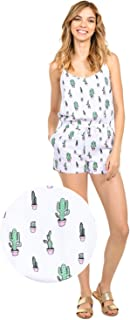 Women's Cute Summer Rompers - Patterned Flamingo Cactus Watermelon Pineapple Romper Dresses