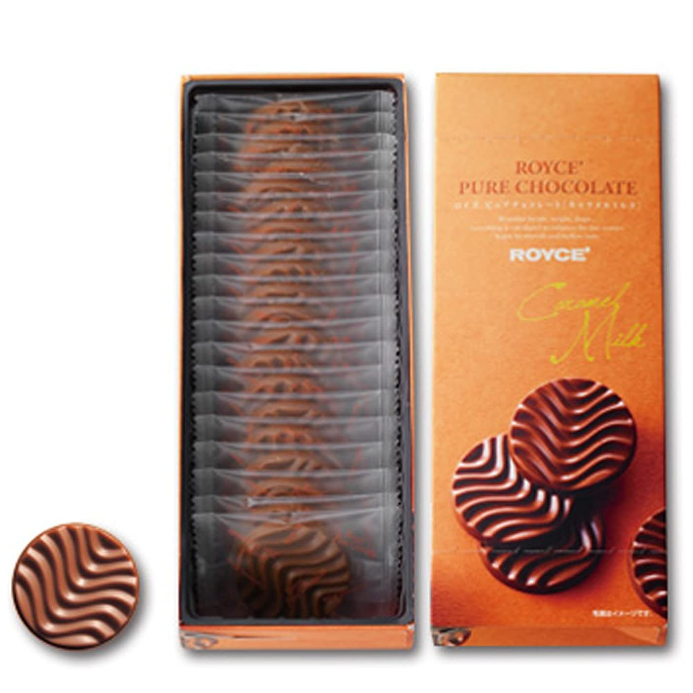 タクトのりサンドイッチROYCE (ロイズ) ピュアチョコレート [キャラメルミルク] 20枚入り