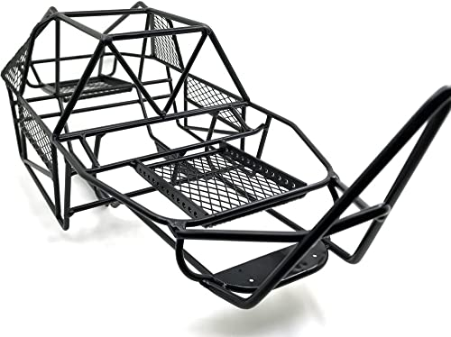 Axspeed Full Metal V Stahlk g Chassis Schwarzfür Axial SCX10 RC Autos Crawler