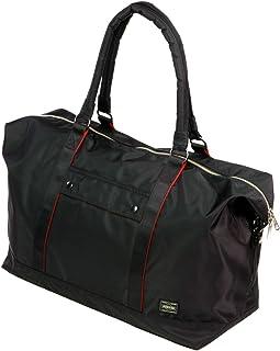 ポーター エルファイン 【PORTER L-fine】 PORTER×ILS共同企画 ボストンバッグ Boston Bag 【LYD383-09795-10】 ブラック 裏地=レッド Black Backing=Red