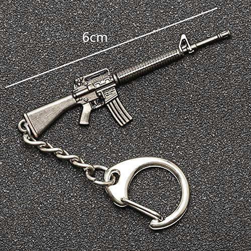 PUBG Keychain Playerunknowns Battlegrounds Backpack Armor Helmet Pan 98k Flare Gun Keyring Key Chain Ring Army Jewelry Wholesale M16A4