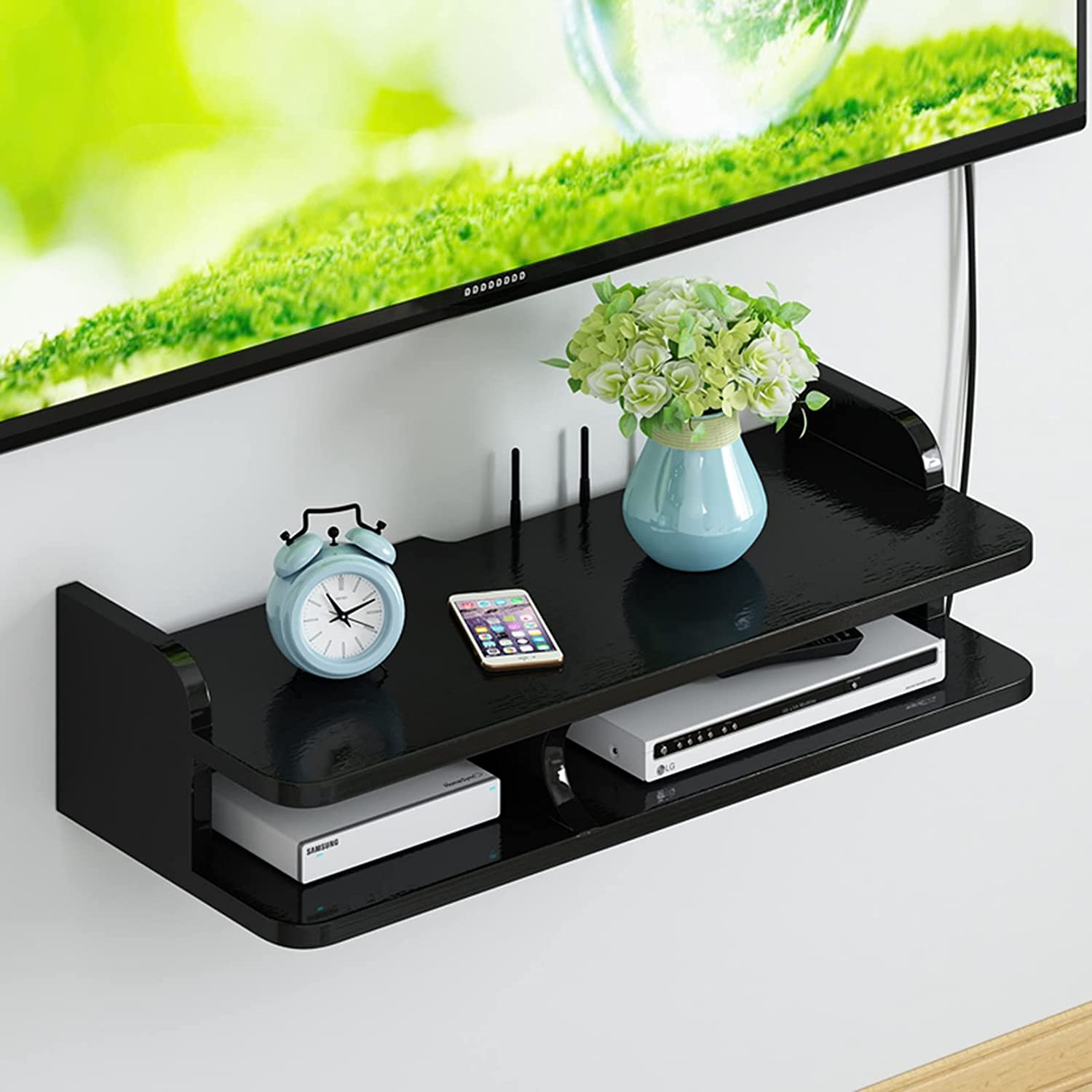 CHAOXIAN Floating Wall Shelves Living store Limited Special Price S Box Router Set-top Room