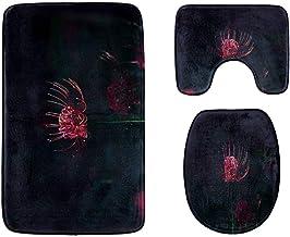 Mysterious Faramita Bathroom Rug Mats Set 3-Piece,Soft Shower Bath Rugs,Contour Mat and Toilet Seat Lid Cover Non-Slip Mac...