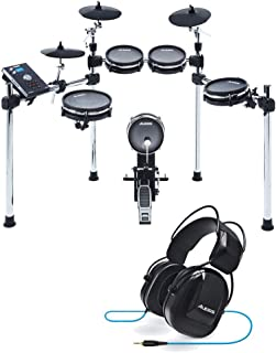 Alesis Command Mesh Kit Eight-Piece Electronic Drum Kit with Mesh Heads with Pair of Drumsticks + Alesis Drum Isolation He...