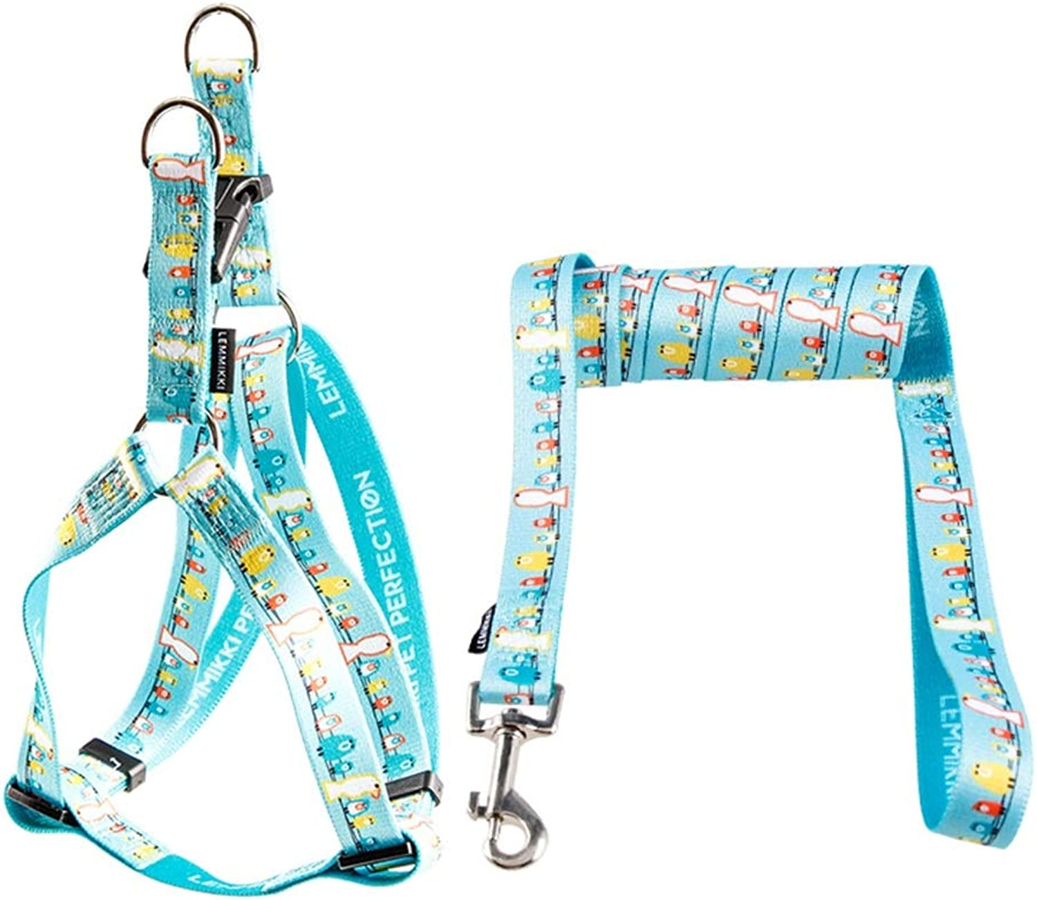 Dog Leash, Dog Lead Set Nylon Rope Lead & Adjustable Harness for Small Medium Large Dogs Walking Hiking TwoPiece Suit Dogs Leash (color    1, Size   XS)