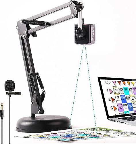 TAUSFILA 8MP USB Webcam,Document Camera with Lavalier Microphone for Teacher, High Definition Camera, Distance Virtua...