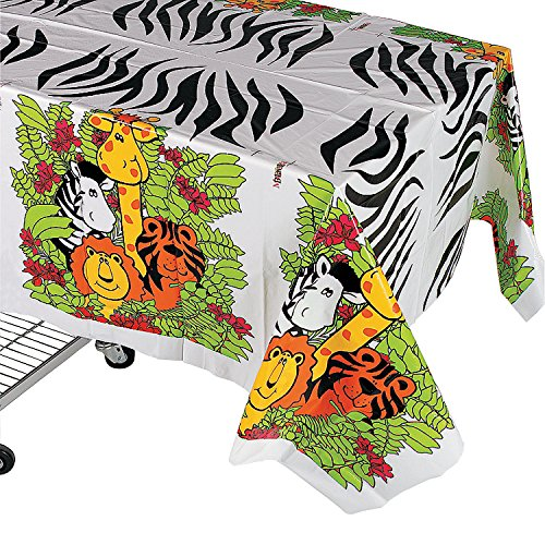 ZOO ANIMAL TABLECLOTH - Party Supplies - 1 Piece