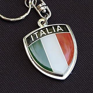 Amazing Italy Italia Show Quality Metal Decorative Keychain 1.7 Tall