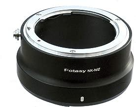 Fotasy Nikon F Mount Lens to Nikon Z50 Z6 Z7 Camera Adapter, Nikon F Mount to Nikon Z Mount Adapter, NK to Nikon Z Adapter, fits Nikon F Mount Lens & Nikon Z Mount Mirrorless Camera Z50 Z6 Z7 Z9