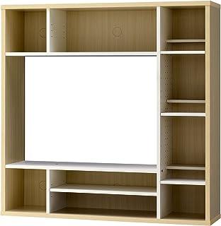 朝日木材加工 テレビ台 壁面収納 ALL IN ONE 32型 幅115cm ホワイト AOR-1212AV-WH