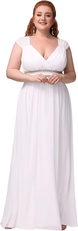 Ever-Pretty Women's Plus Size V-Neck Empire Waist Evening Party Maxi Dress 8697PZ