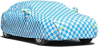 HRFFCLH Black and Blue Plaid Oxford car Cover Compatible with Maserati: GranCabrio, GranTurismo, MC Stradale, Coupé, Quattroporte, Transport, MC12, Cinqueporte,Blue,Coupé