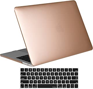 ProCase MacBook Pro 13 Case 2019 2018 2017 2016 Release A2159 A1989 A1706 A1708, Hard Case Shell Cover and Keyboard Skin Cover for Apple MacBook Pro 13 Inch with/Without Touch Bar and Touch ID –Gold