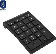 Bluetooth Number Pad, Rytaki Wireless Bluetooth 22 Keys Multi-Function Numeric Keypad Keyboard Extensions for Laptop/Desktop/PCs/Notebook