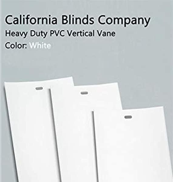 加州百叶窗公司 PVC 垂直百叶窗更换板条光滑白色你选择尺寸和数量