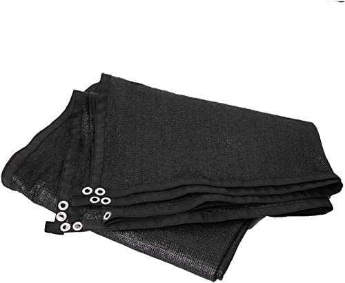 NANIH Home Tissu antipluie imperméable Filet Pare-Soleil Isolant écran Solaire Filet cryptage épaississement Cour Balcon Toit ombrage Filet (Couleur   noir, Taille   8x10m)