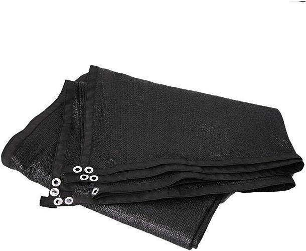 NANIH Home Tissu antipluie imperméable Filet Pare-Soleil Isolant écran Solaire Filet cryptage épaississement Cour Balcon Toit ombrage Filet (Couleur   noir, Taille   5x8M)