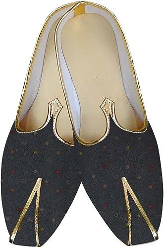 INMONARCH Herren Grau Hochzeit Schuhe Design MJ015609