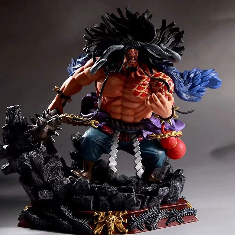 TXOZ One Piece Model Four Emperors Baidu Decoration Anime Classic Toys Static Craft Sculpture High 19cm Fool toy