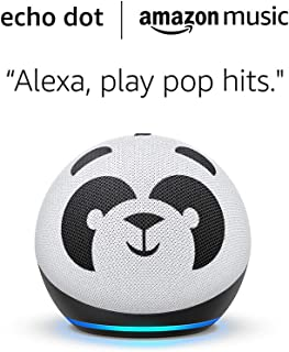 All-new Echo (4th Gen) Kids Edition and 6 months of Amazon Music Unlimited FREE w/ auto-renewal - Panda