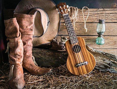 Meer 5x7ft Vinyl Cowboy Cap Gitaar Laarzen Fotografie Studio Achtergrond
